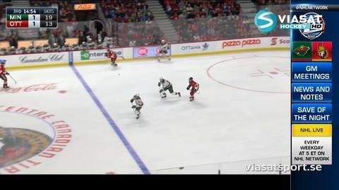 Sammandrag: Ottawa - Minnesota 3-2 (OT)