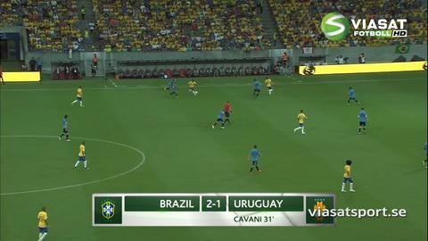 Sammandrag: Suarez hjälte mot Brasilien i comebacken