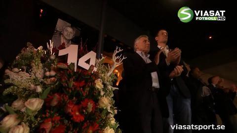 TV: Här hyllas Cruyff i 14:e matchminuten