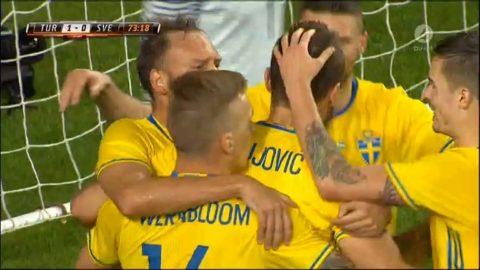 Vacker svensk variant - Granqvist sätter 1-1