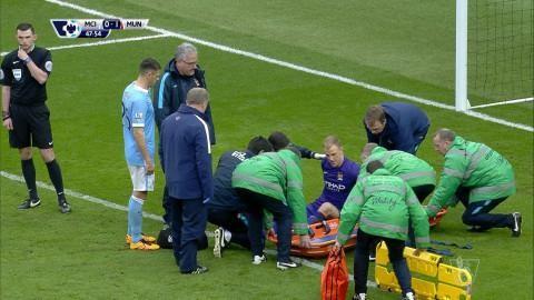 Video: Hart skadad efter Demichelis miss