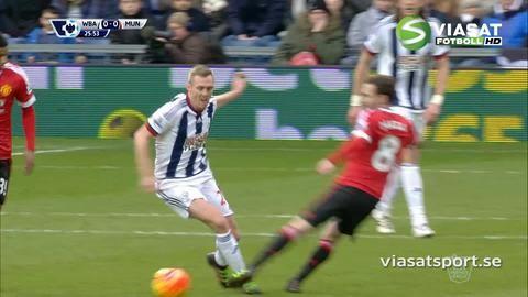 Video: Mata utvisad efter två snabba gula mot West Brom