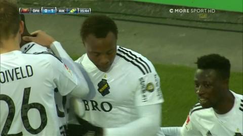 Bedrövlig Östersundsfrispark leder till Strandbergs första AIK-mål