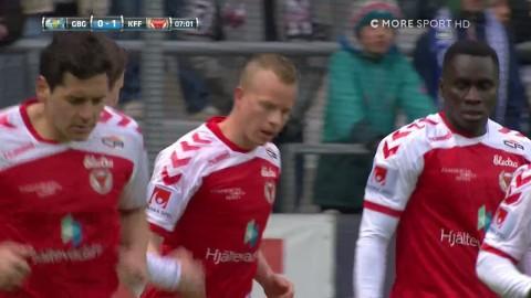Eriksson chockar Blåvitt - sätter 1-0 för Kalmar FF