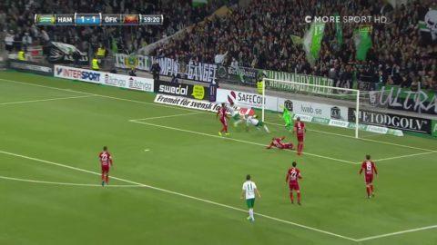 Hammarby missar jätteläge - Alex och Hallberg centimeter från 2-1