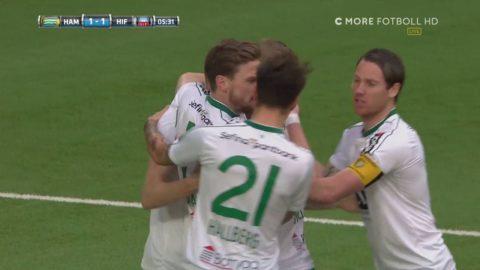 Hammarby svarar direkt på mardrömsstarten - Israelsson kvitterar till 1-1