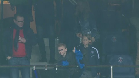 Här får Zlatan tummen upp av sonen efter hattricket