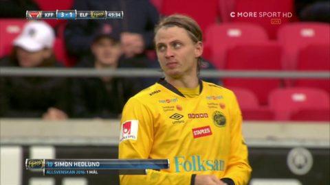 Hedlund skjuter läckert upp bollen i krysset - Elfsborg reducerar