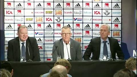 Hela presskonferensen med nya förbundskaptenen Janne Andersson