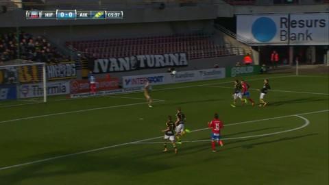 Höjdpunkter: Jordan Larsson sänkte AIK med två mål