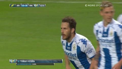 Hysén tvåmålsskytt - lägger in bollen i tom bur efter Carlgrens kollision med Ankersen