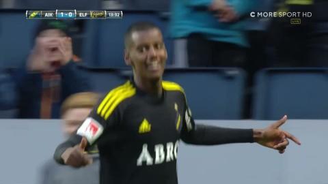 Isak sätter 1-0 för AIK - tavla av Stuhr Ellegaard
