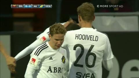 Isaks första allsvenska mål i karriären - sätter 2-0 mot Östersund
