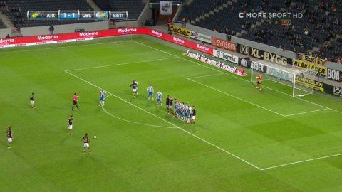 Jonsson når högst och nickar in 2-2 för Göteborg