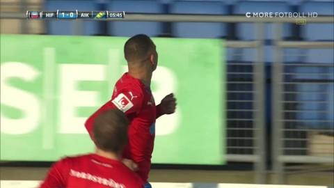 Jordan Larsson sätter 1-0 hemma mot AIK