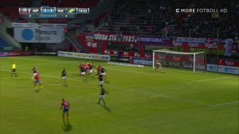 Jordan Larsson tvåmålsskytt - vackert frisparksmål ger 2-1 mot AIK