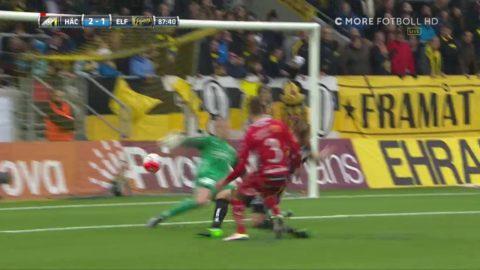 Lundqvist reducerar till 1-2 för Elfsborg mot Häcken