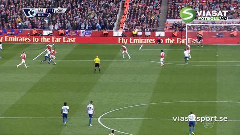 Mål: Bolasie placerar in kvitteringsmålet på Emirates (1-1)