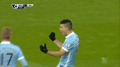 Mål: City tar ledningen - Agüero gör sitt 100:e PL-mål (0-1)