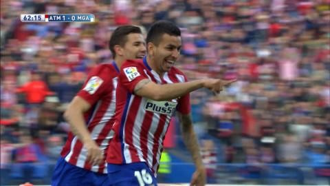 Mål: Correa ger Atlético ledningen (1-0)