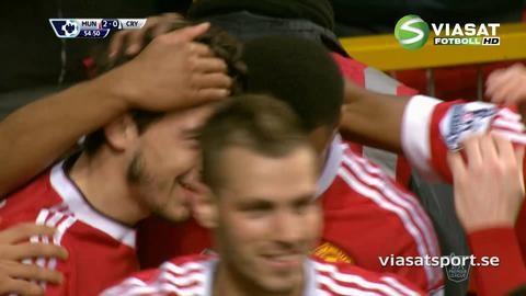 Mål: Darmian dundrar in tvåan för United (2-0)