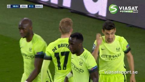 Mål: De Bruyne trycker in ledningen för City (0-1)