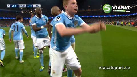 Mål: De Bruyne trycker in ledningen för City (1-0)
