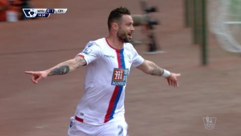 Mål: Delaney öppnar målskyttet mot West Ham (0-1)