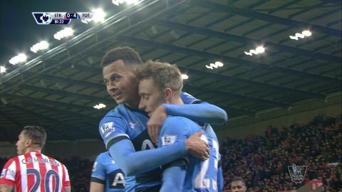 Mål: Dele Alli sätter sista spiken i kistan mot Stoke (0-4)