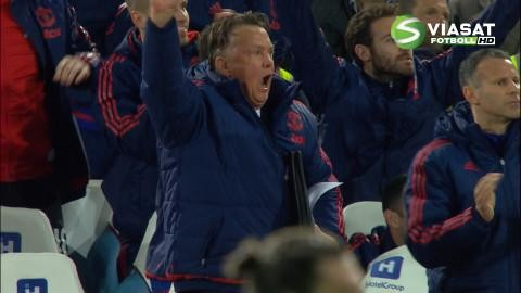 Mål: Fellaini utökar Uniteds ledning (0-2)