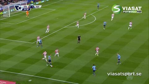 Mål: Harry Kane skruvar in ledningsmålet för Spurs (0-1)