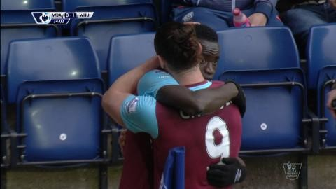 Mål: Kouyaté ger West Ham ledningen på The Hawthorns (0-1)