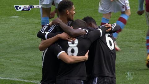 Mål: Läckert väggspel leder till utökning för Chelsea (0-3)