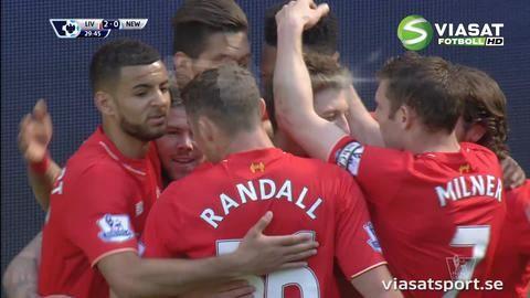 Mål: Lallana knorrar in Liverpools andra mål för matchen (2-0)