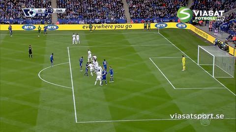 Mål: Leicester utökar - Ulloa nätar på frispark (2-0)