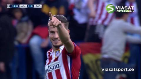 Mål: Niguez öppnar målskyttet mot Bayern efter solonummer (1-0)