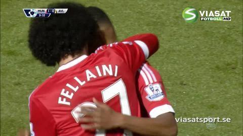 Mål: Rashford öppnar målskyttet mot Villa (1-0)