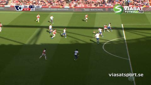 Mål: Sanchez nickar in ledningen för Arsenal (1-0)