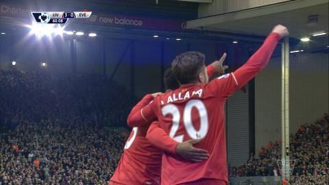 Mål: Sturridge placerar in trean för Liverpool (3-0)