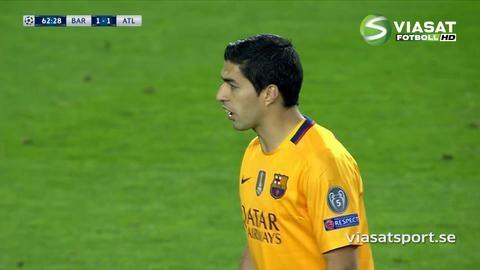 Mål: Suarez styr in kvitteringen på Camp Nou (1-1)