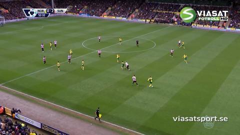 Mål: Sunderland utökar på Carrow Road - Defoe nätar (0-2)