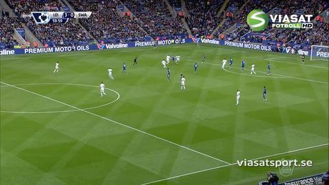 Mål: Ulloa tvåmålsskytt - trycker in trean för Leicester (3-0)