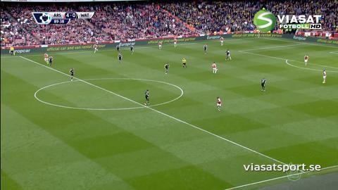 Mål: Walcott sätter sista spiken i kistan i derbyt (4-0)