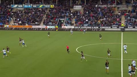 Norrköping fullbordar utklassningen - sätter 4-1 mot AIK