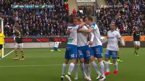 Norrköping nickar in 3-1 mot AIK