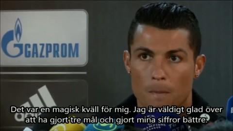"""Ronaldo efter hattricket: """"Det var en magisk kväll"""""""