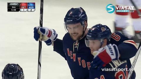 Sammandrag: NY Rangers - Detroit 3-2