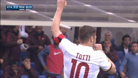 Sammandrag: Totti poängräddare för Roma mot Atalanta
