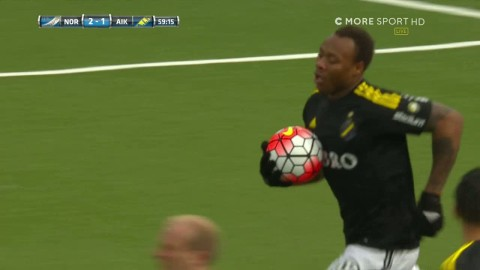 Strandberg väcker AIK:s hopp - reducerar till 2-1