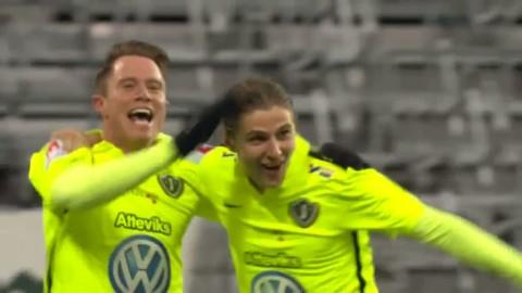 Thelin slår in 1-0 mot Hammarby på retur